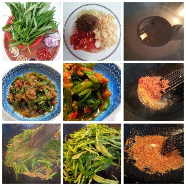 Kangkung Tumis Belachan (Stir-fry Water Spinach with Shrimp Paste)