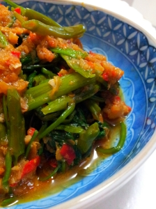 Stir-Fried Water Spinach with Shrimp Paste