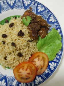 The Red Snapper Curry with Lemon & Raisin Rice